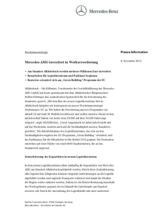 Wachstumsstrategie                                                              Presse-Information                        ...