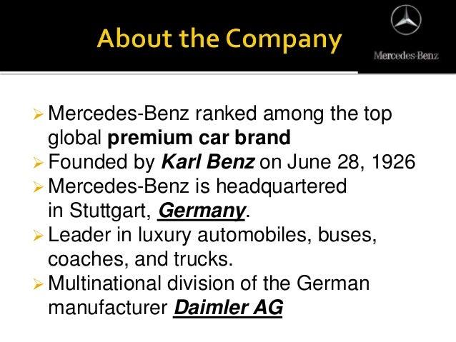 Mercedes benz ppt for Mercedes benz germany internship