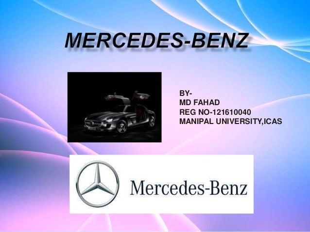 Mercedes Benz Presentation
