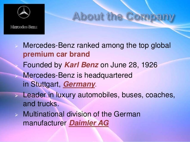 Pestle presentation mercedes benz Essay