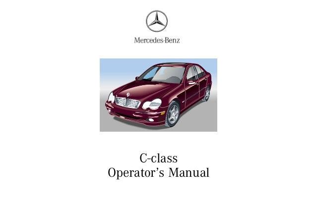 mercedes c240 c320 2001 owners manual  c class operator s manual