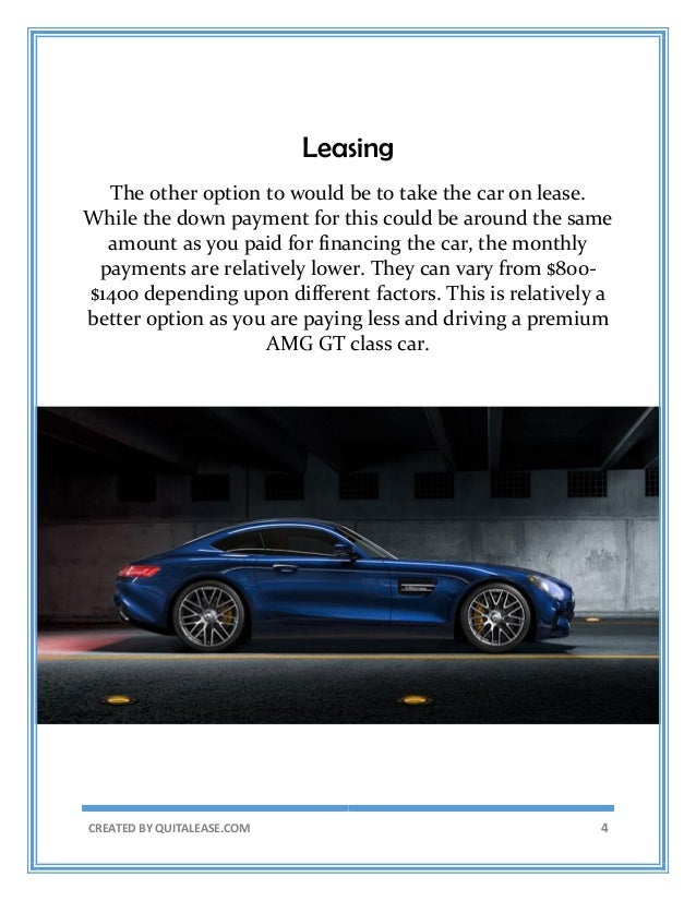 Mercedes AMG GT lease takeover New York