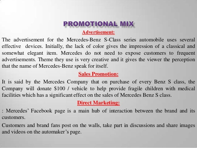 mercedes benz distribution strategies Daimler marketing mix explains the business & marketing strategies of the daimler marketing mix explains the products like the mercedes benz.