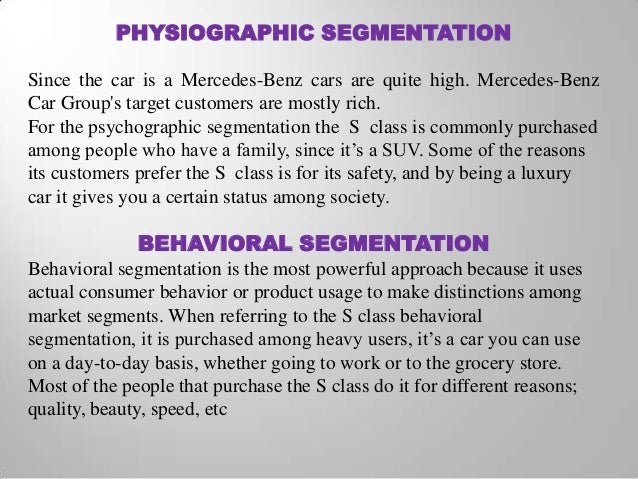 Company Analysis for Mercedes Benz