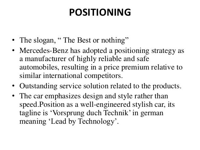 Mercedes benz marketing stp