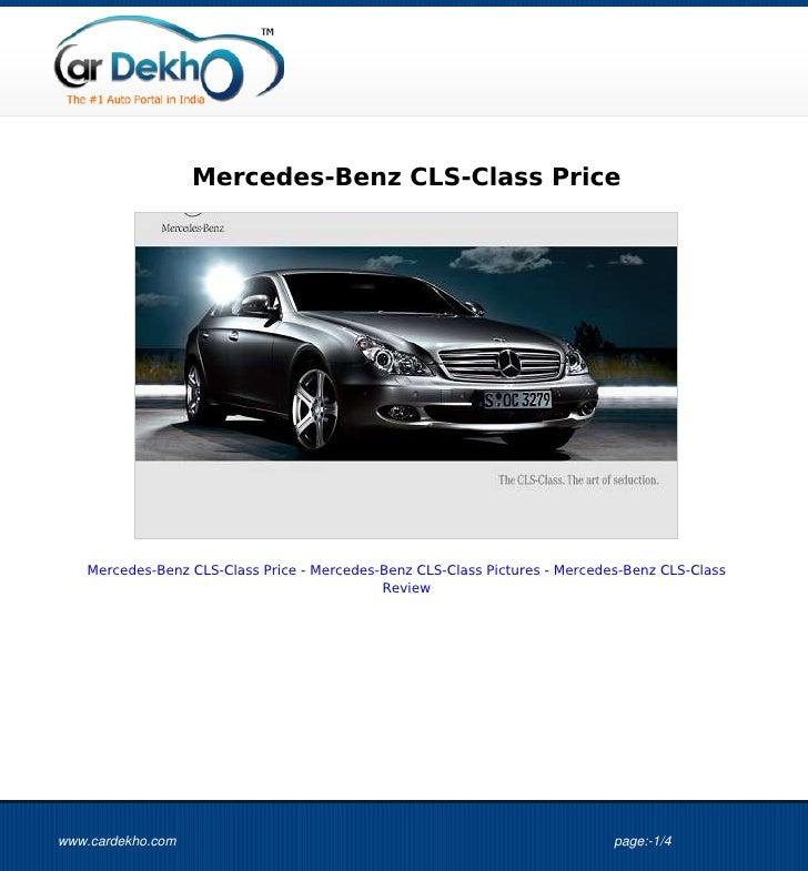 Mercedes-Benz CLS-Class Price   Mercedes-Benz CLS-Class Price - Mercedes-Benz CLS-Class Pictures - Mercedes-Benz CLS-Class...