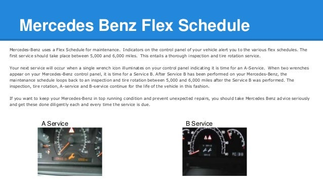 Mercedes benz a service and b service for Mercedes benz prepaid maintenance