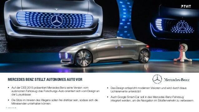 MERCEDES BENZ STELLT AUTONOMES AUTO VOR ! Auf der CES 2015 präsentiert Mercedes Benz seine Version vom autonomen Fahrzeug:...