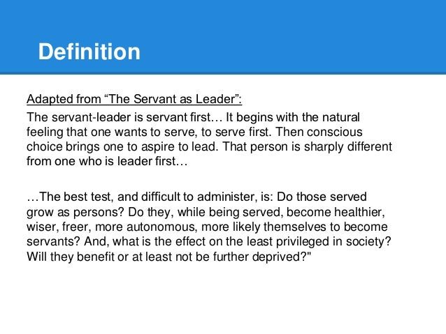 Case Study on Servant Leadership