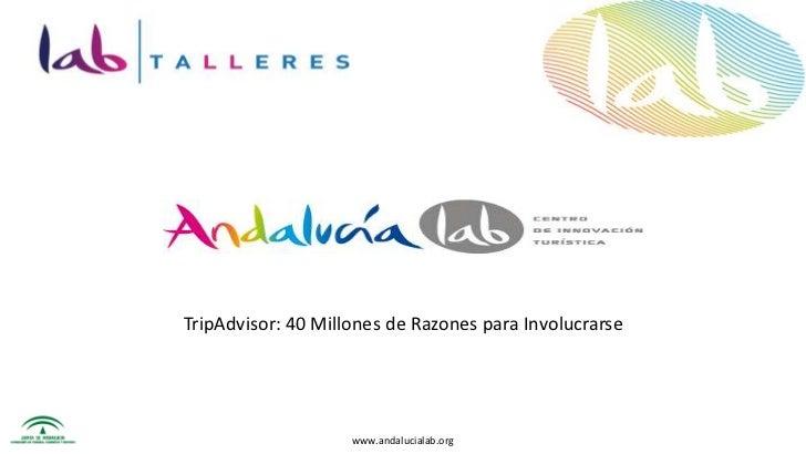 TripAdvisor: 40 Millones de Razones para Involucrarse<br />www.andalucialab.org<br />