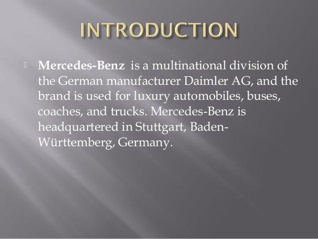 Superb ... 3.  Mercedes Benz ...