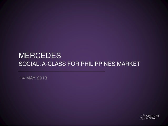 MERCEDES SOCIAL: A-CLASS FOR PHILIPPINES MARKET 14 MAY 2013