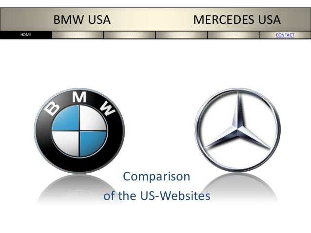 START SITES ALIGNMENT CONSISTENCY CONTRAST CONTACTHOME BMW USA MERCEDES USA Comparison of the US-Websites