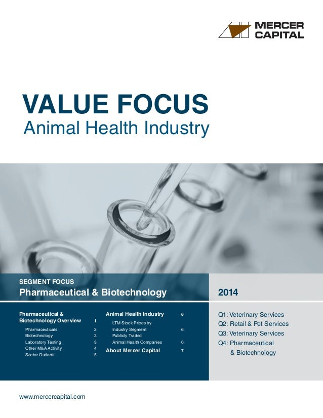 VALUE FOCUS Animal Health Industry www.mercercapital.com SEGMENT FOCUS Pharmaceutical & Biotechnology 2014 Q1: Veterinary ...