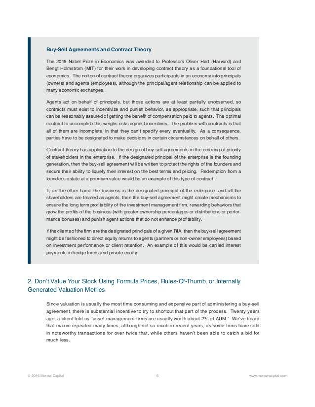 Buy sell agreements for investment management firms an ounce of prev 6 platinumwayz