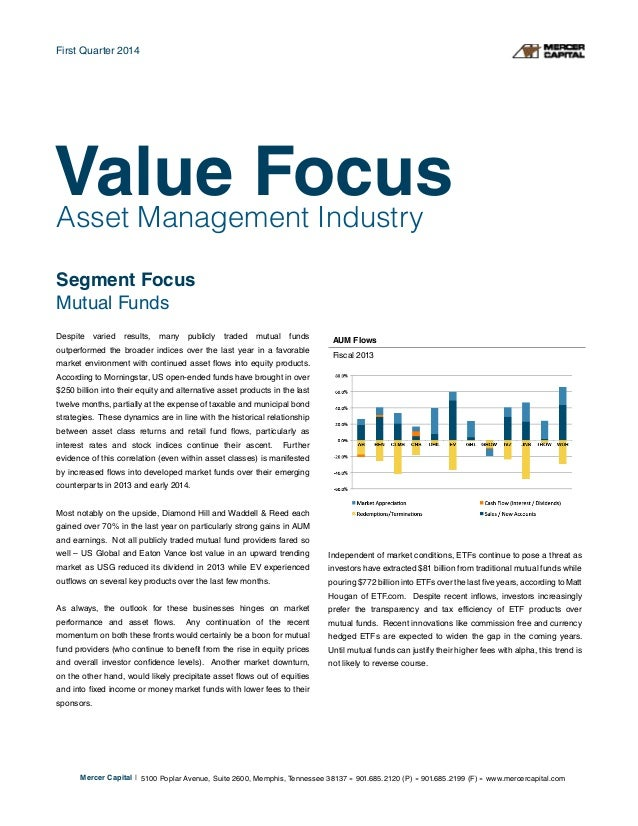 Asset Management Industry Segment Focus Mutual Funds Despite varied results, many publicly traded mutual funds outperforme...