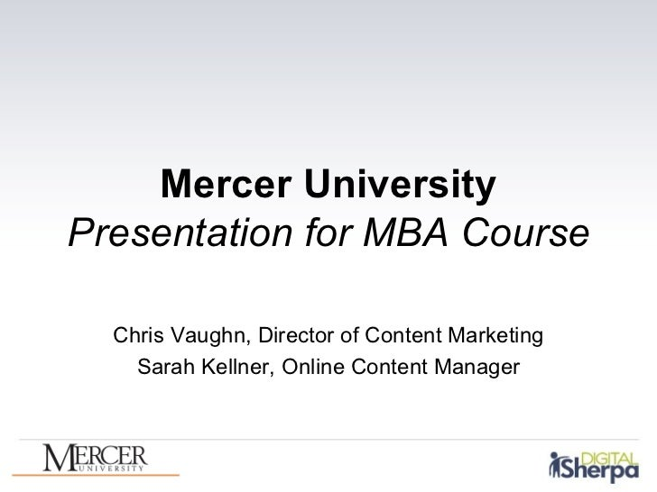 Mercer MBA Class