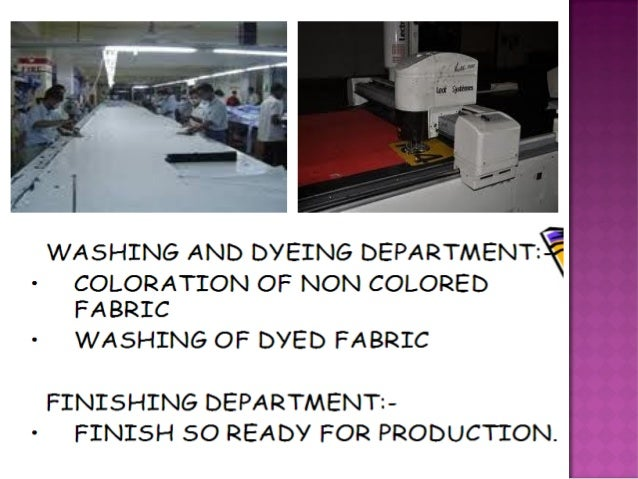 Merchandising process in the apparel industry