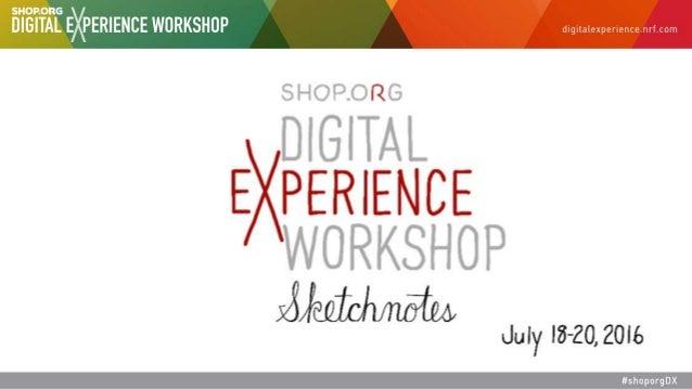 Sketchnotes from Shop.org's Digital Experience Workshop