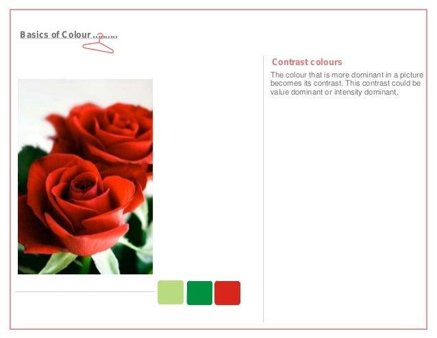 Basics of Colour ..........                              Contrast colours                              The colour that is ...