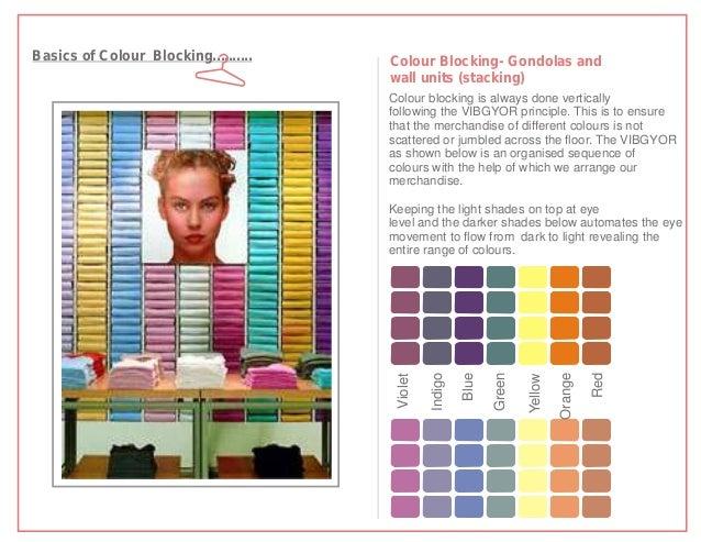 Basics of Colour Blocking..........   Colour Blocking- Gondolas and                                      wall units (stack...