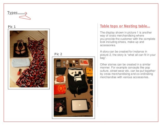 Types.........Pic 1                    Table tops or Nesting table...                         The display shown in picture...