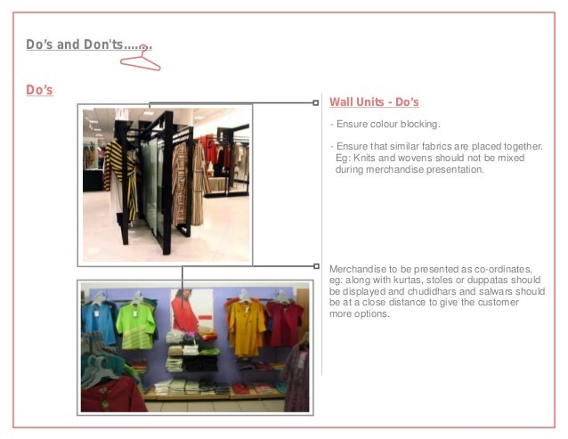 Do's and Donts........Do's                          Wall Units - Do's                          - Ensure colour blocking.  ...
