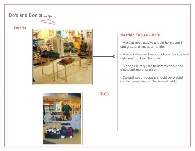Do's and Donts........  Don'ts                                 Nesting Tables - Do's                                 - Mer...