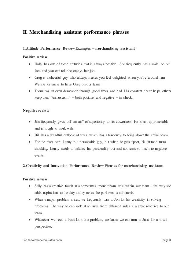 Merchandising Job Description  Template