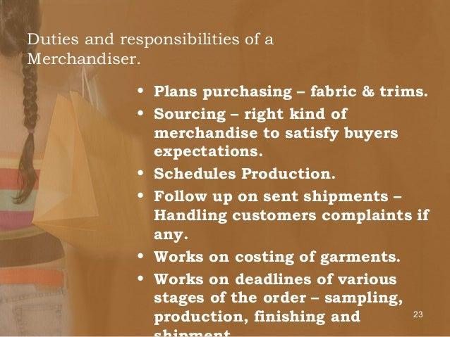merchandiser duties and responsibilities pdf