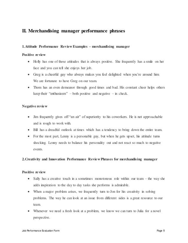merchandising-manager-performance-appraisal-8-638 Team Performance Appraisal Examples on for concept plans, for students, satisfactory employee,