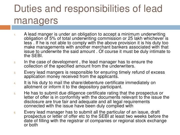 Obligation & responsibilities