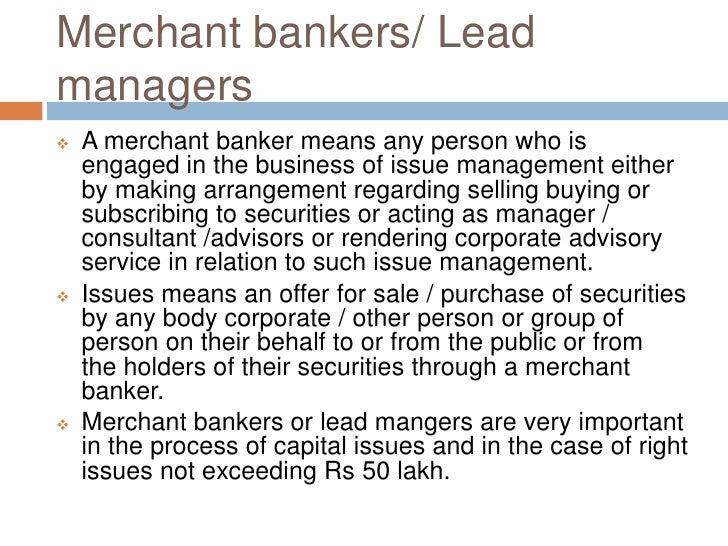Merchant bankers Slide 3
