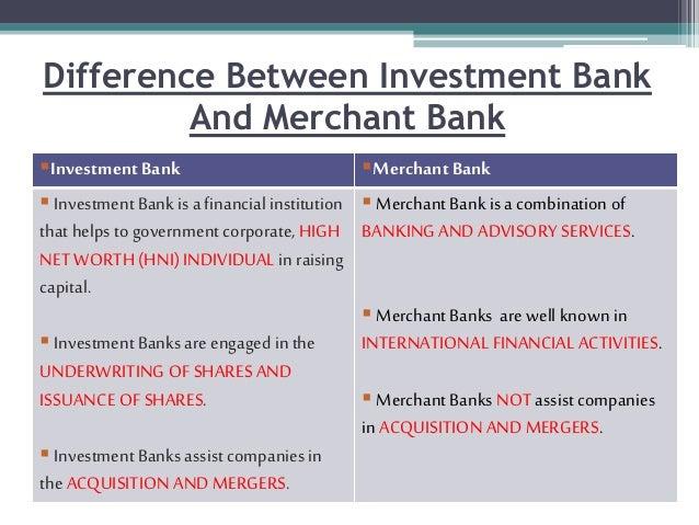 define merchant banking investment