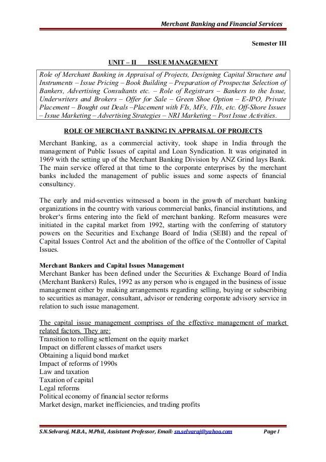 merchant bank definition finance
