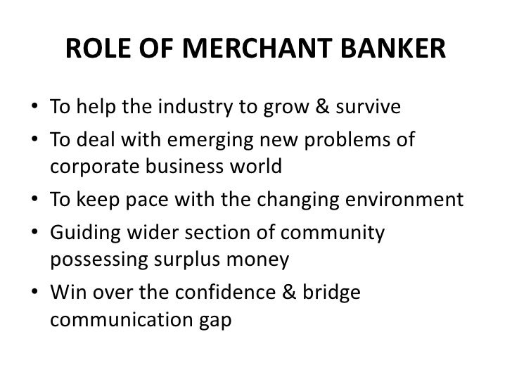 merchant banking business meaning
