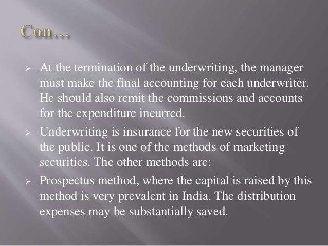 Securities underwriting agreements