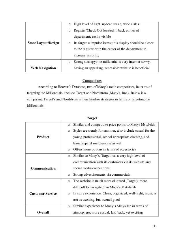 Macy's Case Study - Merchandise Strategies FIDM 2013