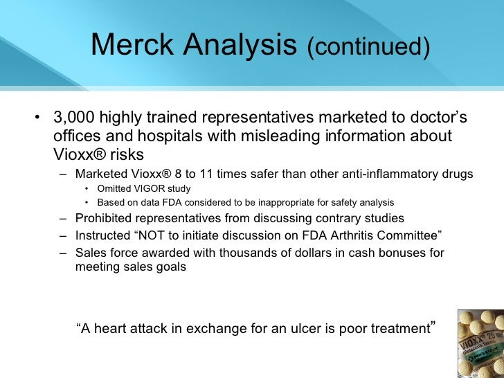 merck the fda and the vioxx recall case study questions
