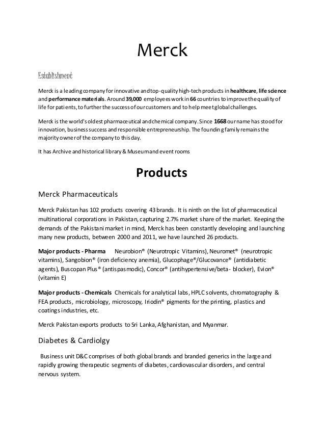 Merck is a leading company for innovative and top