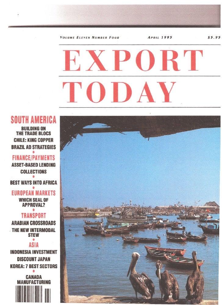 VOUJME   EI.EYE/Y   NUMBER   FOUR·   APRIl.   199~                            EXPORT                            TODAYsourH...