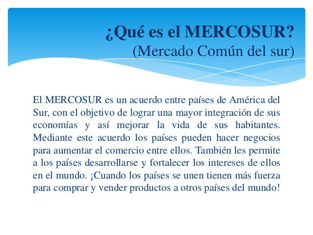 Mercosur presentación final Slide 2