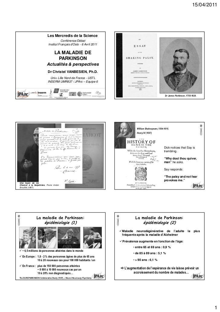15/04/2011                              Les Mercredis de la Science                                         Conférence/Déb...