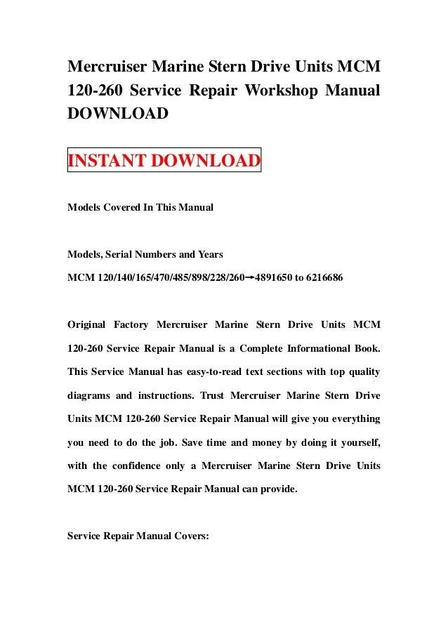 Mercruiser 165 manual pdf dolapgnetband mercruiser 165 manual pdf fandeluxe Gallery