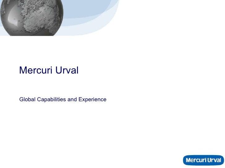Mercuri Urval Global Capabilities and Experience
