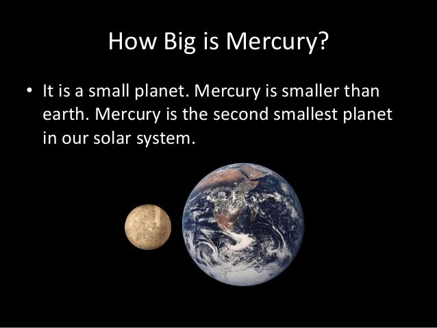 The Smallest Planet Is Mercury (page 2) - Pics about space