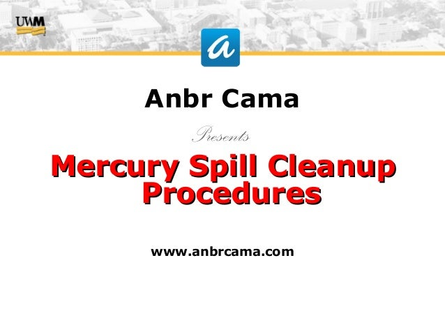 how to clean up mercury spill