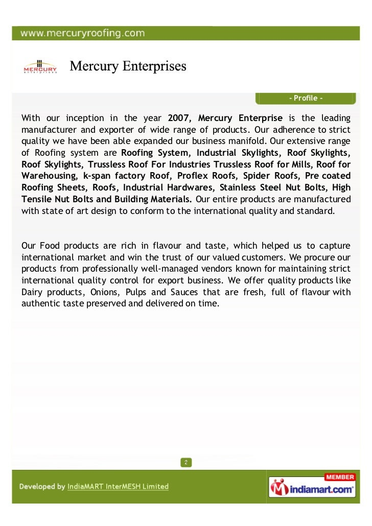 Mercury Enterprises, Pune Slide 2