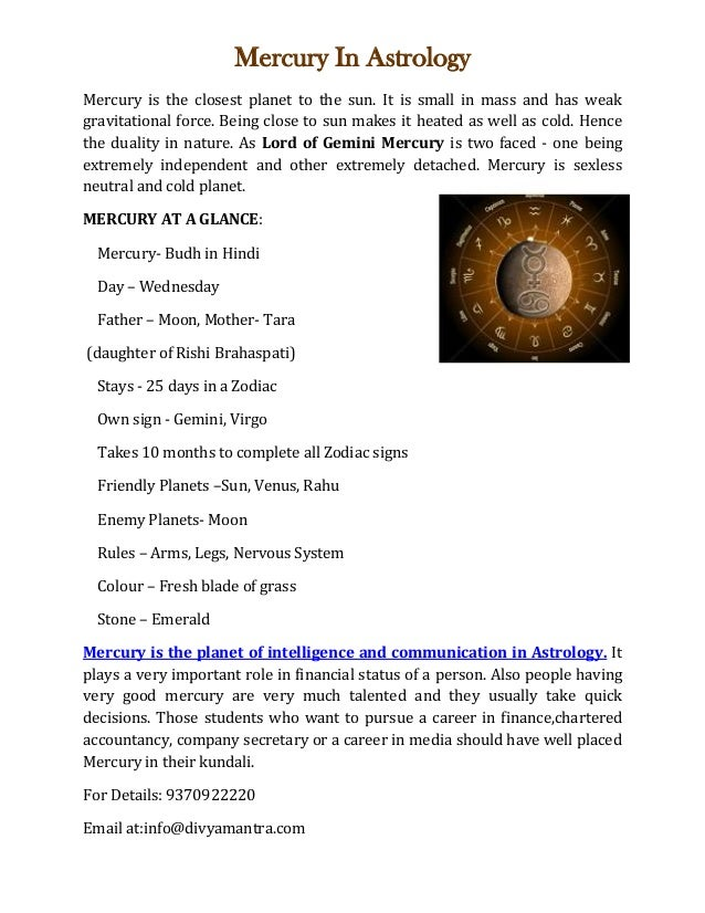 mercury and intelligence astrology