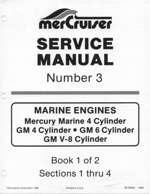 Mercury Mercruiser Marine Engine Mcm 898 Service Repair Manual Sn 488